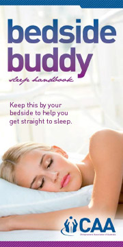 Bedside Buddy Sleep Handbook from the Pittsworth Chiropractic Centre