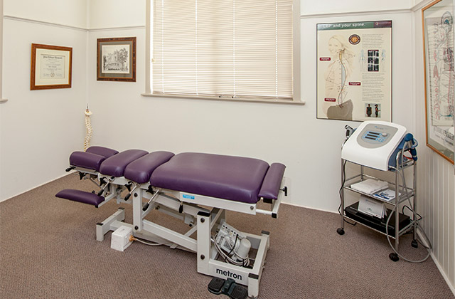 Chiropractic consulting room at the Chiropractic Centre